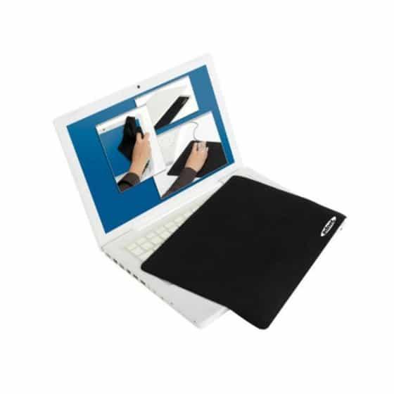 EDNET 3en1 noir - Tapis de souris, protège-écran, chiffon de nettoyage Taille:10.2 Pouces