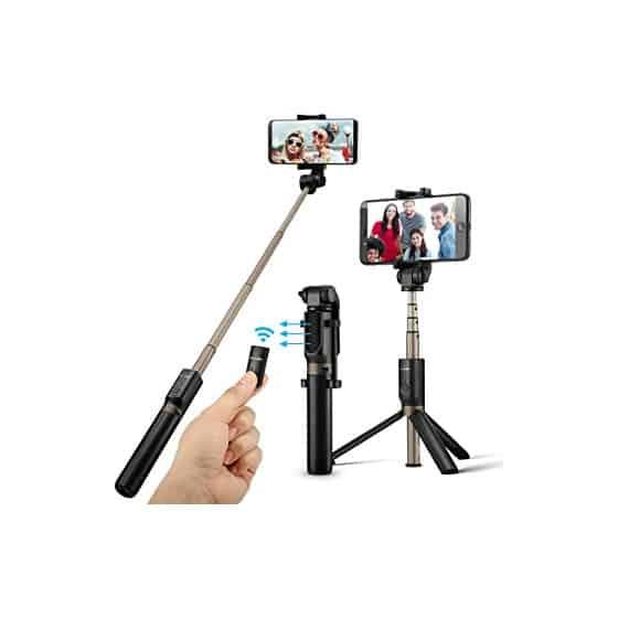 Perche Selfie Bluetooth P40L Trépied + Télécommande