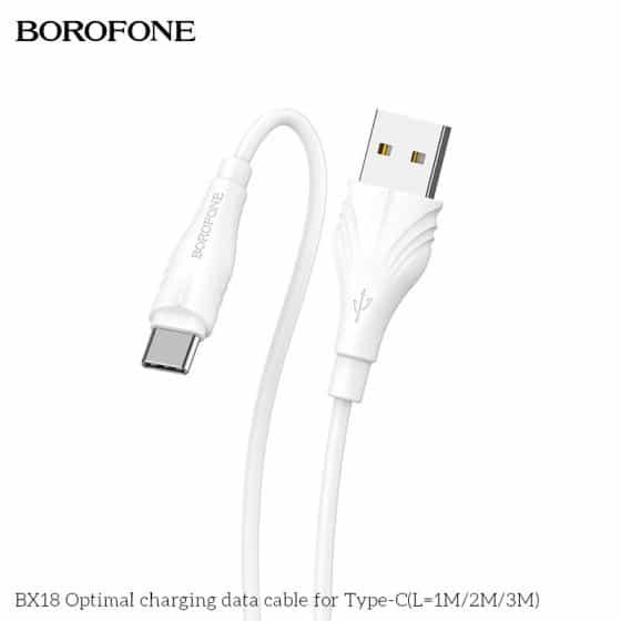 Câble Type-C - 3m - Borofone (BX18) Blanc