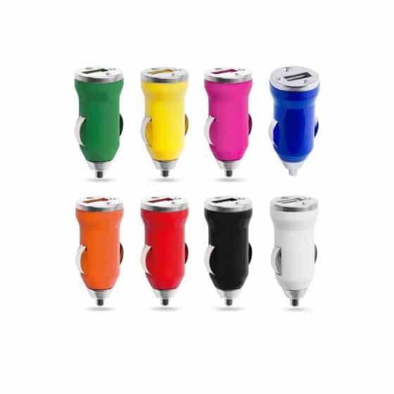 Chargeur de voiture USB Couleur Rose Clair