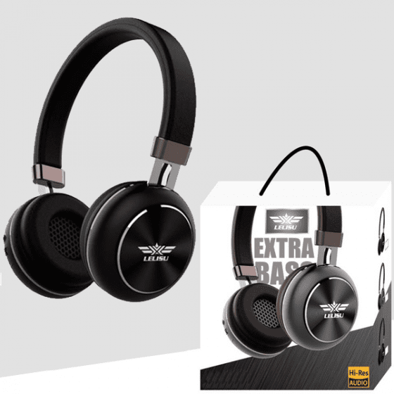 Casque Bluetooth Extra Bass Lelisu Noir