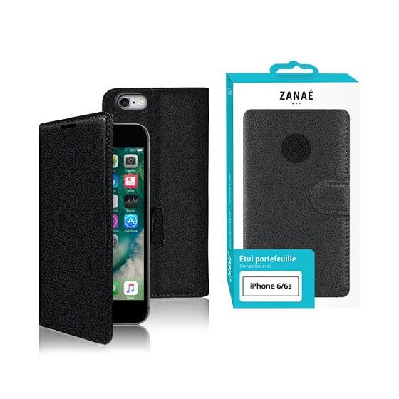 Etui Portefeuille Zanae pour iPhone 11, Noir