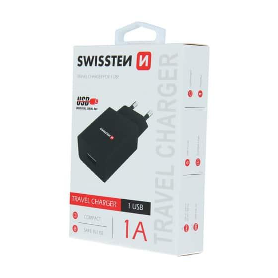 Chargeur 1 port USB Swissten 1A Noir