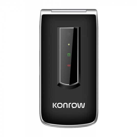 Konrow Senior C - Écran 2.4'' - Double Sim - Noir (Dock de charge Fourni)