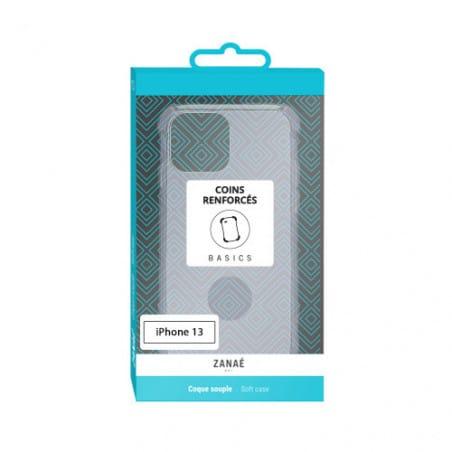 Coque Silicone transparent avec coins renforcés pour iPhone 13 Transparent