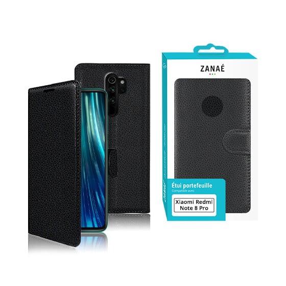 Etui Portefeuille Zanae pour Xiaomi Redmi Note 8 Pro Noir