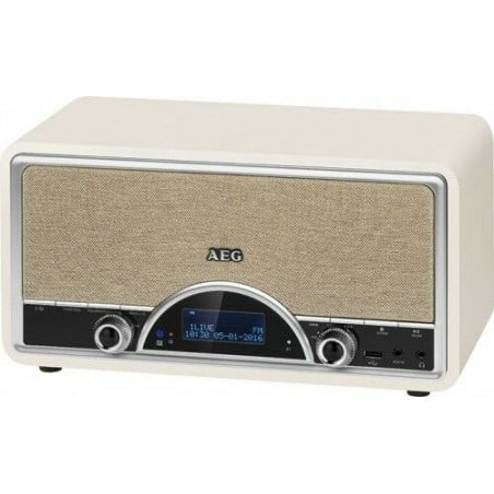 Radio rétro AEG NDR 4378 numérique avec Bluetooth DAB+ (crème)